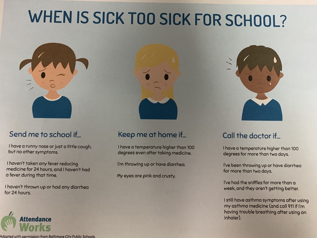 Too Sick for School graphic